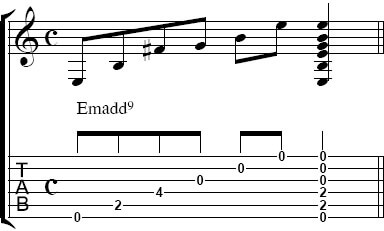 EmをEmadd9へ変換