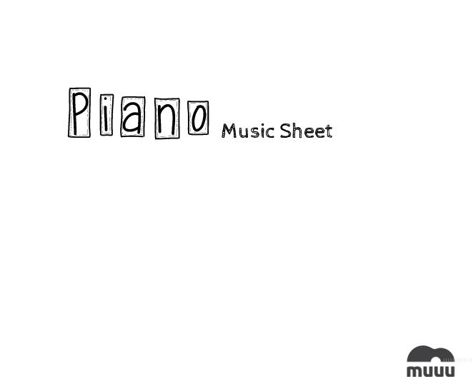 ピアノ用の空楽譜 無料